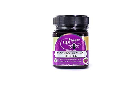 Manuka Propolis & Milk Thistle Creamed Honey 250g - World's Innovation for Your Health, Manuka Honey Enriched with Propolis and Milk Thistle Extract