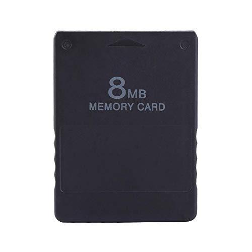 AMONIDA 8M Speicherkarte High Speed Memorykarte für Sony Playstation 2 PS 2 Spiele Zubehör, Schwarz