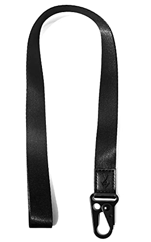 Cool Lanyards,Neck Strap Key Chain Holder, Neck Lanyards for Keys,Wallets and ID Badge Holders (Black)