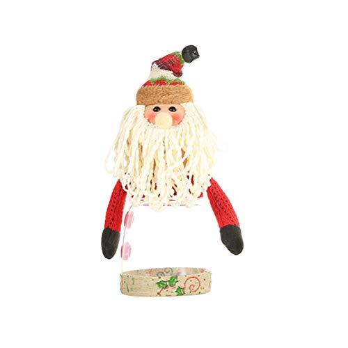 Amosfun Tarros De Caramelo De Navidad Bote Cristal Decotación De Papa Noel Para Fiesta Navidad árbol De Navidad