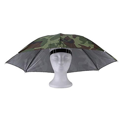 Bubbry Draagbare paraplu, 69 cm, pet, plooien, vissen, wandelen, handsfree, paraplu
