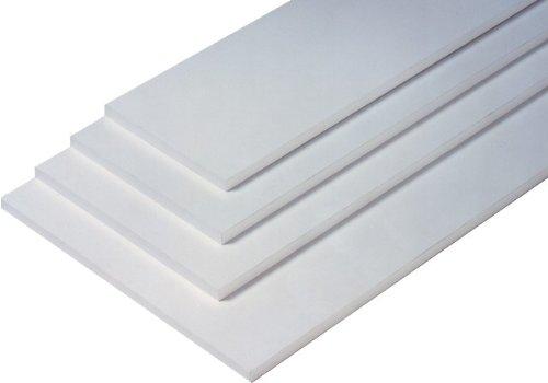 Regalboden Einlegeboden WEISS 567 x 283 mm (L 56,7 cm x B 28,3 cm) Fachboden für 60 cm Küchenschrank Spanplattenzuschnitt mit Kanten - ABS Kanten und Melaminkanten - livindo