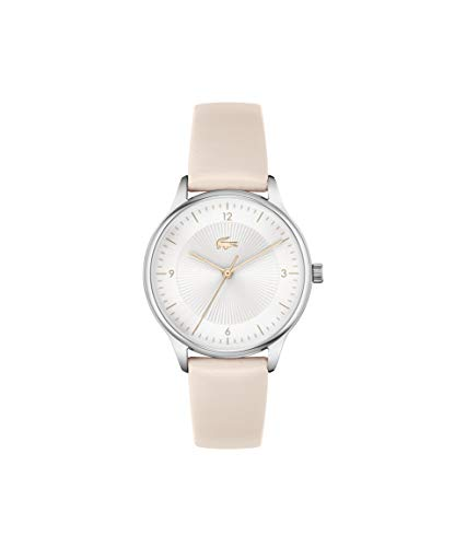 Lacoste Damen Analog Quarz Uhr mit Leder Armband 2001168