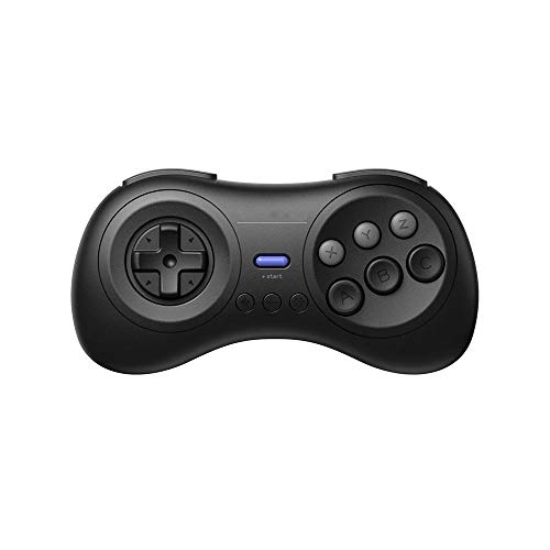 Gaming Controller Joystick met 2.4G Wireless Gamepad 2.4G-ontvanger Wireless Game Joystick for Sega Genesis en Sega Mega Drive Universele Compatibiliteit (Color : Black, Size : One size)