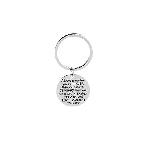 Tragbarer Schmuck des kreativen Buchstaben keychain der praktischen Geschenk keychain der Mode
