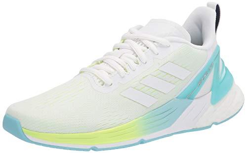 adidas Women's Response Super Prime Deal Running Shoe, White/White/Yellow, 5