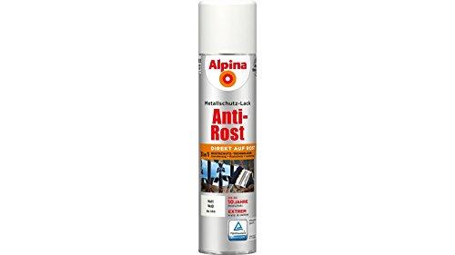 ALPINA Metallschutzlack Anti-Rost Spray, Weiß matt 400 ml