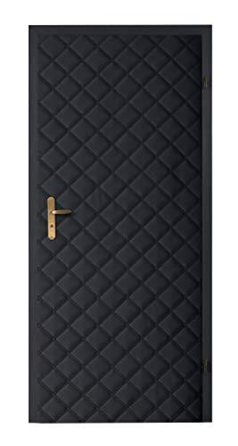 Türverkleidung Türpolsterung Schallschutz Wärmedämmung Tür Reparatur für Innentüren Farbe schwarz gesteppt Neu