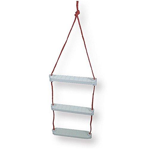 CEREDI Badeleiter/Moderne Jakobsleiter mit Anti-Rutsch-Stufen für Schlauchboote, Größe:3 Stufen