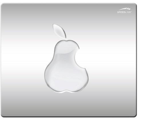 Speedlink SILK Mousepad - Mauspad mit seidenweicher Textiloberfläche und antistatischer Wirkung, Maße: 23 x 19 x 0,2 cm, Pear Edition