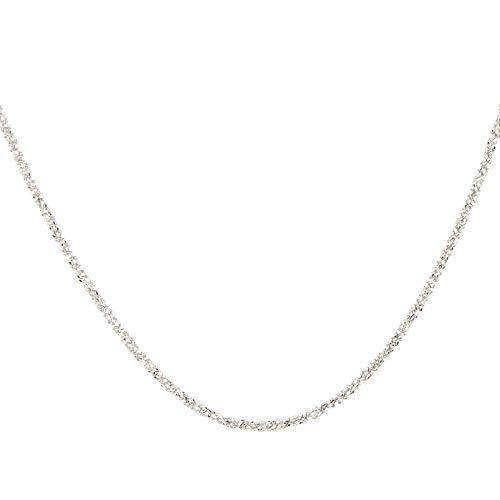 DUR Kette Sternenstaub 925 Sterling Silber   rhodiniert, rau  K2248   45 cm