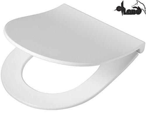 WC Sitz FORMAT passend für Keramag Icon / 4 U, Renova Nr. 1 extra flach abnehmbar Softclose