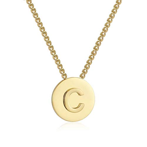 Qings Collar Letras c Oro para Mujeres, Collar Iniciales Col