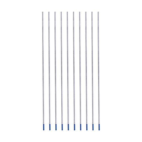 Electrodo de Tungsteno de Lantano, Electrodos de Tungsteno Azul WL20 Excelente Rendimiento de Soldadura Fácil de Crear un Arco Eléctrico(1.6 * 175mm)