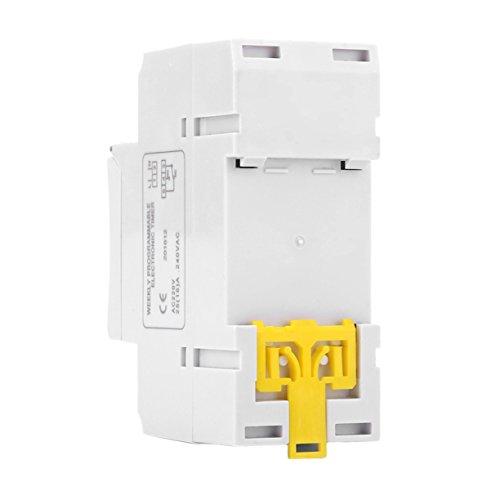 AnXiongStore Panel Blanco montado -10- + 40 ℃ 35-85% RH Interruptor Temporizador electrónico programable LCD Digital THC 15A AC 220V Yp15 A