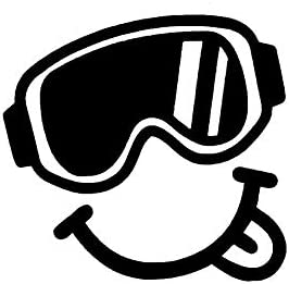 Legacy Innovations LLI Ski Goggles Smiling Face Decal Vinyl Sticker Cars Trucks Vans Walls Laptop product image