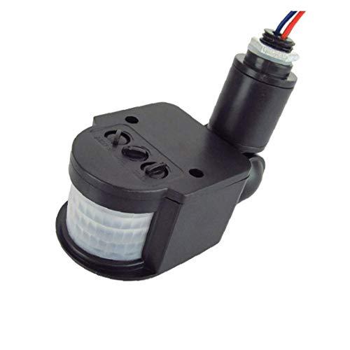 Casecover Interruptor Sensor De Movimiento De 250 V Detector De Movimiento Infrarrojo Automático del Sensor PIR 180 Grados De Rotación Al Aire Libre Reloj De Luz Negro