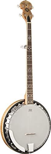 Oscar Schmidt OB5SP 5-String Banjo, Remo Head,Spalted Maple Resonator, Gloss Finish