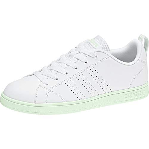 adidas Vs Advantage Clean, Zapatillas de Tenis Mujer, Blanco (Ftwwht/Ftwwht/Aergrn 000), 44 EU