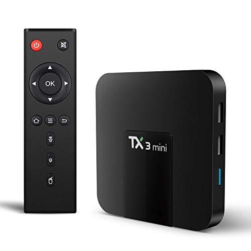 Mega1Comp - TX3 Mini Android 7.1 Smart TV Box Amlogic S905W Quad Core 2G 16G Support 2.4GHz 64bits WiFi 4K HD Set Top Box with Remote Control