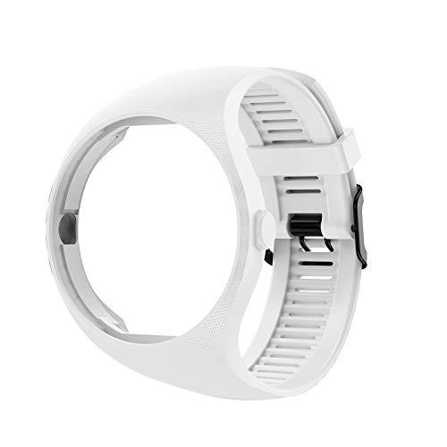 WE-WHLL Qianqian56 Pulsera de Silicona Suave de Color sólido Correa de muñeca para Reloj Inteligente Polar M200-Blanco