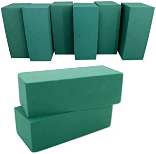 Floral Foam Blocks | Florist Flower Styrofoam Green Bricks Applied Dry or Wet | Set of 8