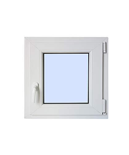 Finestra PVC praticabile Oscilobatiente Destra 600X500 1 foglio con vetro Carglass