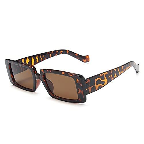 XWKKY Gafas De Sol Rectangulares Grandes Vintage Para Mujer Gafas De Sol De Moda Para Mujer Gafas Retro Para Hombre