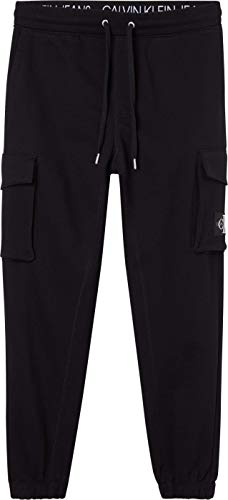 Calvin Klein Jeans Cargo Badge Fleece Pant Chndal, Ck Negro, XXL para...