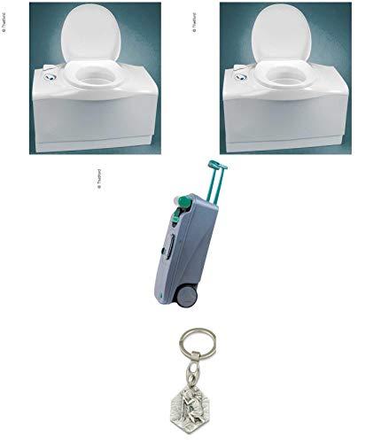 Zisa-Kombi Cassettentoilette C 403-L - Inodoro eléctrico (Izquierdo, con Colgante), Color Blanco Cristóbal