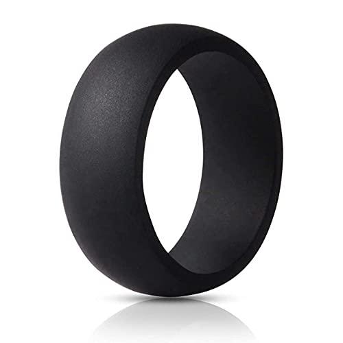 Anillo ancho de silicona deportes pareja boda anillo cómodo joyería de moda regalos de fiesta accesorios hipoalergénico