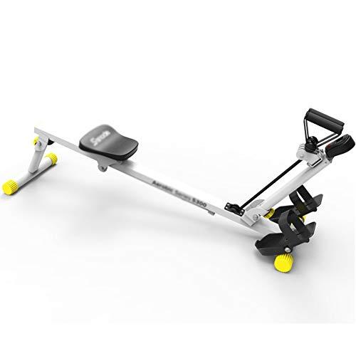 CWYPC Rudergerät, Rowing Machine Ruderergometer Rudergerät Klappbar, Widerstand Im Dritten Gang, HD Datenanzeige, Maximale Belastung 100 kg, Ganzkörpertraining Für Das Heimtraining