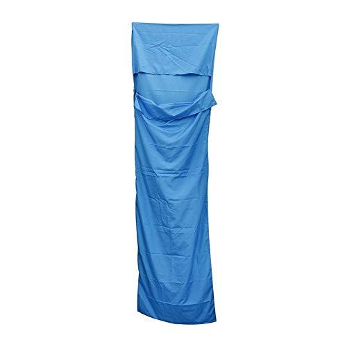 Sbeautli Ultra-Light Einzel-Polyester-Rohseide gesunder Schlafsack tragbares Camping Reiseschlafsack Blau Für Draußen Drinnen (Color : Blue)