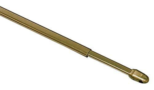 Gardinia Juego de 2 barras de cortina de metal y plástico (60-100 cm)