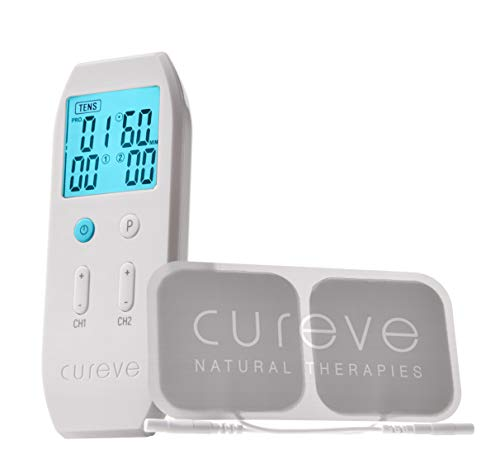 Cureve TENS + EMS Unit Combination Pain Relief System and Muscle Stimulator - Professional, Rechargeable, Portable and Powerful