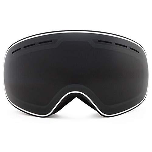 N\A Gafas de Snowboard de esquí Recién llegados Gafas de esquí Doble Capas UV400 Anti-Niebla Máscara de esquí Gafas Esquí Hombres Mujeres Invierno Snow Deportes Snowboard Gafas R18 (Color : Black)