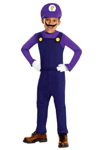 Waluigi Costume Child Costume - Small
