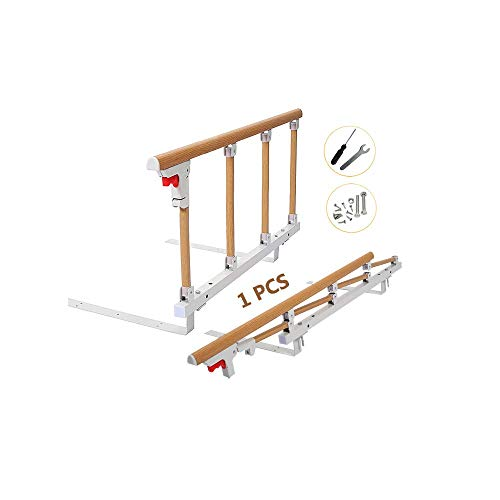 ベッドガード 介護・折りたたみ式ベッド の 手すりベッドガード 転落防止・ベッド用手すり (90×45cm) (木目)