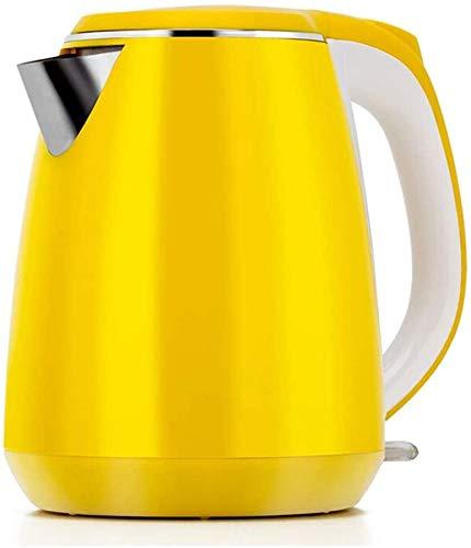Hervidor Eléctrico 1.5L Hervidor De Acero Inoxidable 304 Premium 3000W De Ebullición Rápida Hervidor De Agua Inalámbrico con Pico Ancho para Un Llenado Fácil Sin BPA Apagado Automático, Amarillo