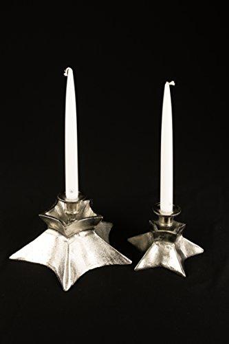 Colmore Kerzenständer Sternform (15 x 15 x 12 cm) aus Alu