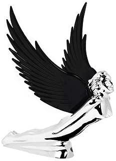 Grand General Chrome Flying Goddess Hood Ornament - Black
