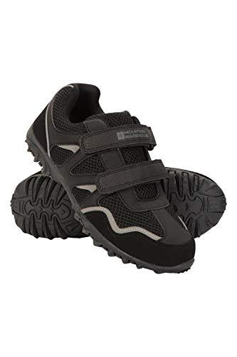 Mountain Warehouse Zapatillas Mars para niños - Zapatillas Ligeras, Zapatillas cómodas de Verano, Zapatillas de montaña con Tiras de Cierre de Gancho y Lazo para niños Negro 35