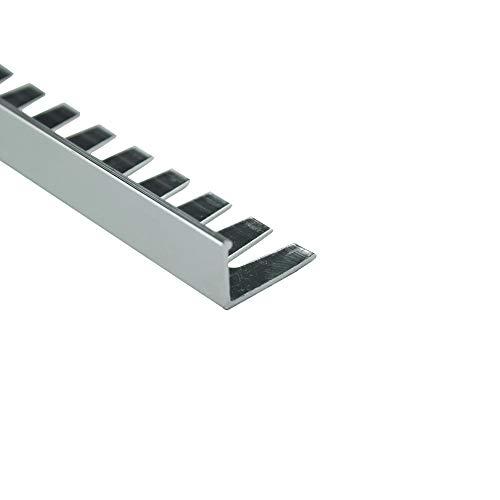 Alu L-Profil biegbar Fliesenschiene Schiene silber matt poliert L270cm 10mm poliert