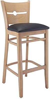 Amazon Com Linon Keira Pad Back Folding Bar Stool
