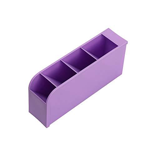 Office Desk Organizer, Pen & Pencil Holder Plastic Organizer Racks Perfect for Office(purple)