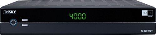 TelSKY S 250 HD+ HDTV Satelliten-Receiver (DVB-S/S2, FullHD, HDMI, Scart, USB, Display) schwarz