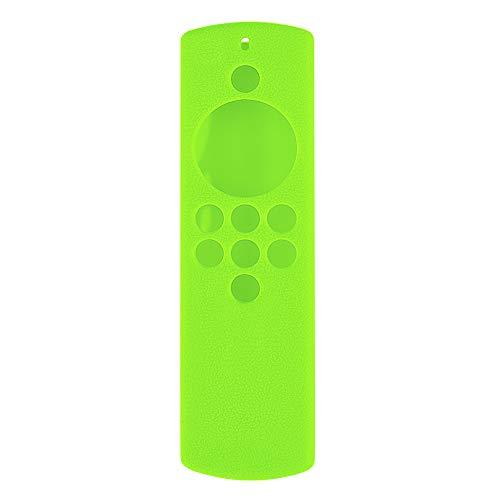 Kaxofang Funda Protectora de Silicona para Amazon Alexa Fire TV Stick Lite para UA55KU6300J VersióN Remota Verde Luminoso