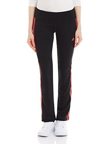 adidas Damen Hose BASIC 3S Pants, Schwarz/Rot, 2XLS