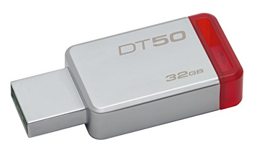 Kingston DT50/32GB Memoria Usb de 32 Gb, Rojo