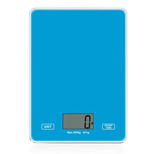 tubc Digitalwaage Mini-Küche Lebensmittelwaage 11Lb Digital mit 1G Graduation LCD-Display zum KochenBalance Gramm Gewichttragbarblau